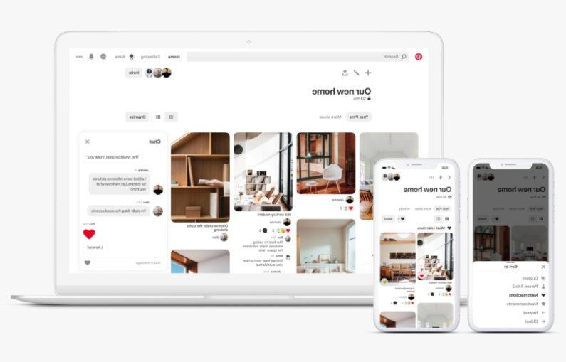 Pinterest permet aux collaborateurs de communiquer plus facilement