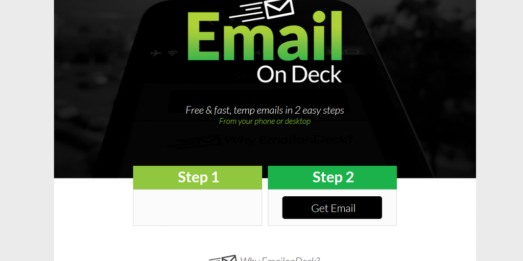 EmailOnDeck - Free & fast, temporary emails in 2 easy steps ...