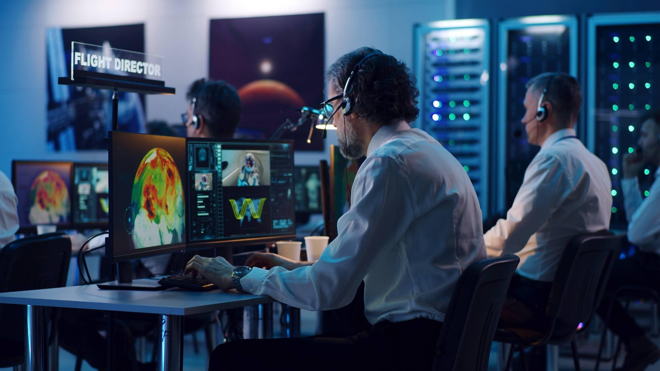 mobilier informatique salle de contrôle